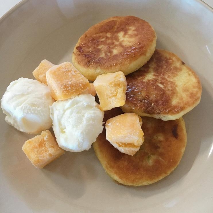 cooking recipe : add ice mango to Korean pancake