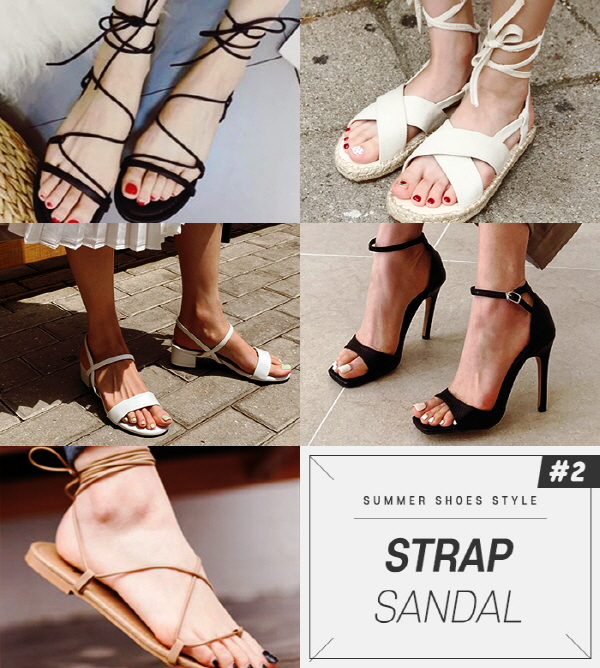 Strap sandals, which can be said to be the most basic among many sandals, are practical items that can match any style such as casual, formal, feminine fashion.