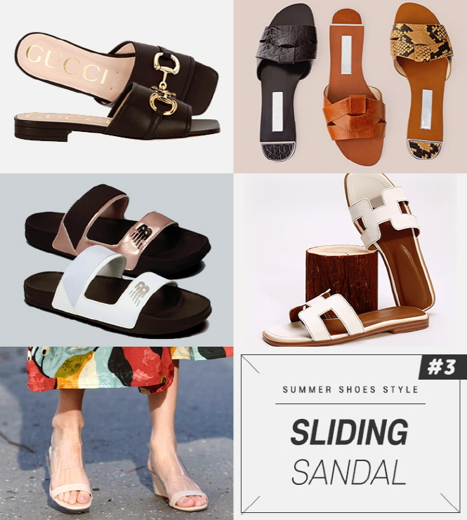 sliding sandals are comfortable like slippers and more stylish than slippers.