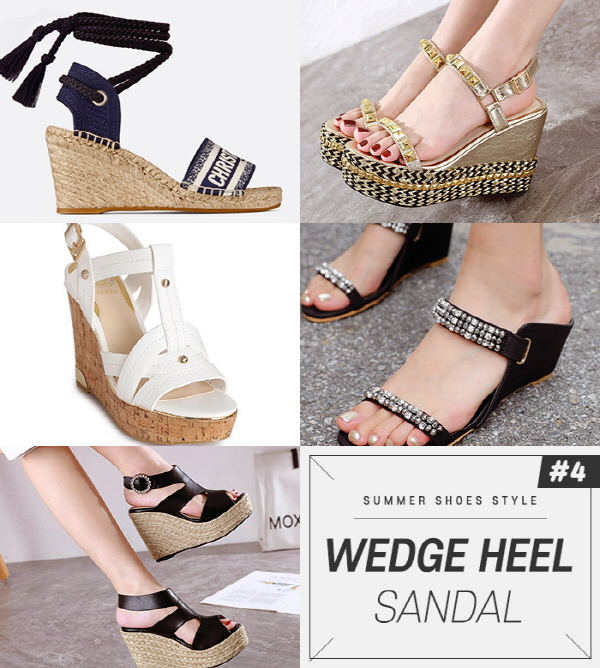 The Wedge heel sandals' curved design reveals a modern silhouette, and the height of the heel is high, so it is good to match when wearing a skirt, dress, or short pants that expose the legs