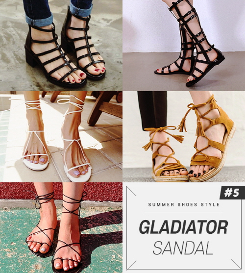 Gladiator sandals can complete the styling of the shoes with a sexy and individuality