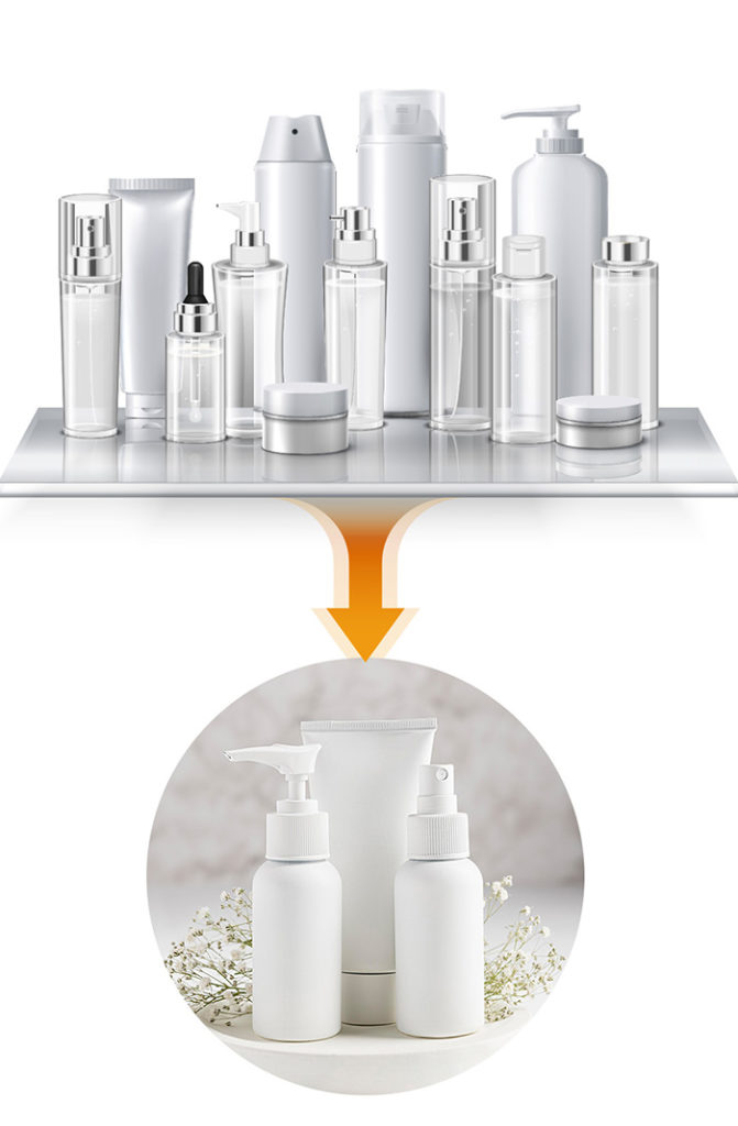 it is good to apply only a few basic products suitable for the skin condition of the day