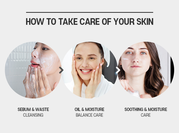 Three steps to take care of your skin trouble daily