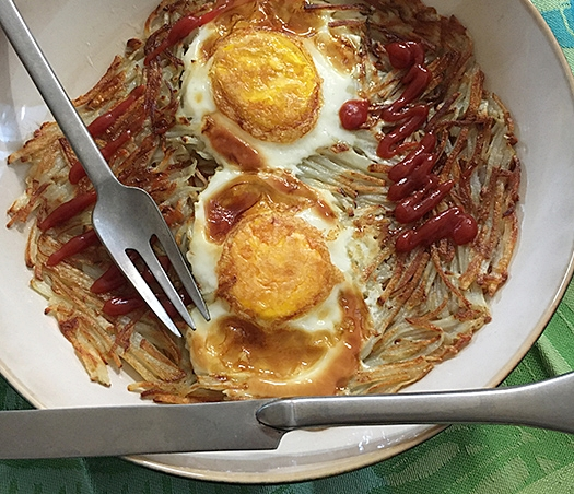 'Potato slice Jeon', a Korean pizza made with potato.